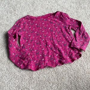 Old Navy Pink Floral Long Sleeve Summer Tee 2T